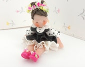June Bug Doll Fairy Garden Wee Miniature Figurine