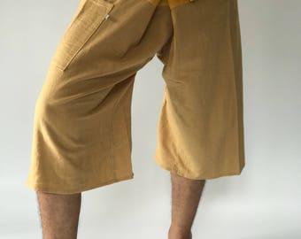 F30019 Thai Fisherman Pants Wide Leg pants, Wrap pants, Unisex pants, Thai Fisherman Pants, Cotton
