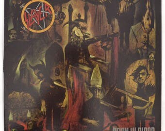 Vintage 80s Slayer Reign in Blood Thrash Metal Album Record Vinyl LP