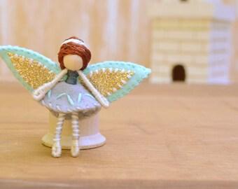 Waldorf Fairy Doll - waldorf fairies, miniature fairy doll, miniature fairies, mini fairy doll, mini fairies, felt fairy doll, felt fairies