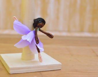 Ballet Doll - ballet fairy doll, ballerina doll, dance recital gift, ballet gift, black fairy doll, black fairies, dancer doll