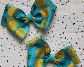 Pineapple Hair bow clips