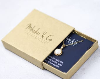 Add On - Mhoho and Co Jewellery Presentation Card, Custom Message Card, Thank You Gift, BF Gift, Sister Gift, Bridesmaid Gift, Mother Gift