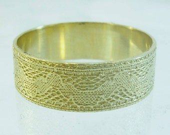Wedding rings women,lace wedding ring,wedding rings for women,14k yellow gold ring,unique rings,unique wedding bands,lace ring,14k gold ring
