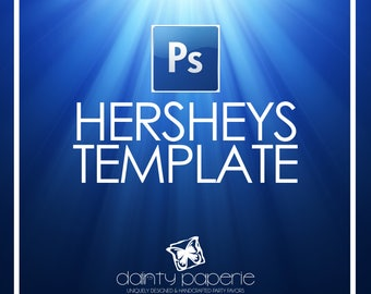 DIY Hershey Wrapper Template | Adobe Photoshop File | psd file