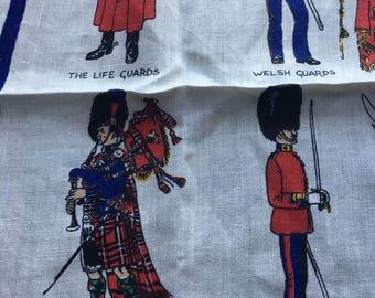 "Vintage Linen Kitchen Towel // 19x30"" > British Guards > by Lamont > Unused"