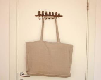 Linen tote bag, tote bag, Scandinavian Fabric