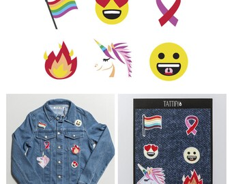 Pride and Love Embroidered Sticker Patch Set Real Talk Collection