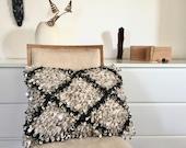 Moroccan Sequins Pillow, Boho Decorative Cushion, Geometric Handira Pillow, Moroccan Cushion, Boho Decor, Wedding Blanket Pillow, Gift Ideas