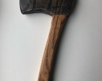 Camp Hatchet Wooden Toy, Gift for Boy, Nature Play, Survival Gear, Wood Toy Axe
