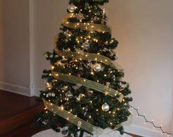 White Sweater Christmas Tree Skirt