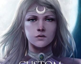 Custom artwork portrait for A