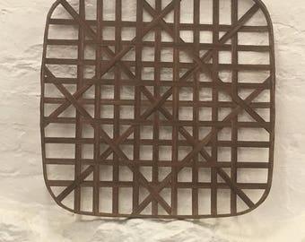 "Tobacco basket North Carolina Tobacco basket Reproduction   18""x18"" Black walnut wood NCTB open weave"
