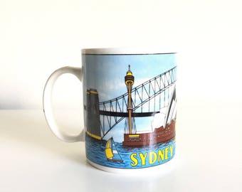 Vintage Sydney Australia Mug / Sydney Opera House Mug / Sydney Harbor / Vintage Kitchen Decor / NEAR MINT