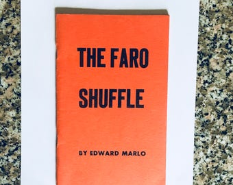 Vintage Magic Book: The Faro Shuffle by Edward Marlo/ 1958 2nd Edition/ Magician's Estate