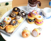 Donut Earrings Food Earrings Donut Jewelry Small Stud Earrings Kawaii Polymer Clay Pink Donuts Fake Food Miniature Friendship Gifts Doughnut