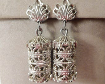1940's Vintage Made In Germany Eloxal Aluminum Clip On Earrings