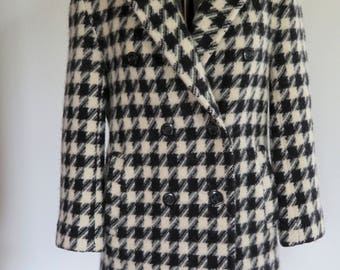 Pendleton Houndstooth Wool Peacoat