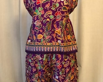 Happy wear/ two piece/ purple/ loungewear/ Thailand /small