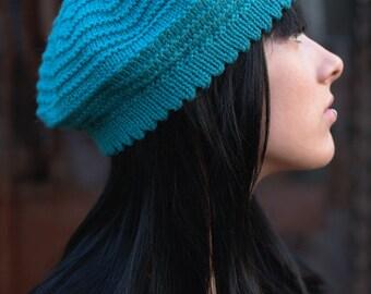 Ridgeway beret+beanie PDF knitting pattern (instructions)