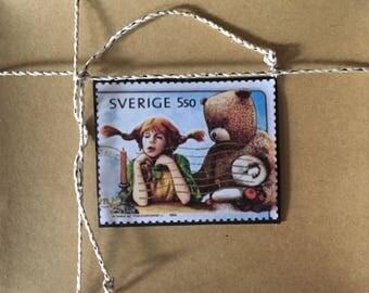 Handmade Cards - Vintage Stamp Art - Children's Literature Series IV