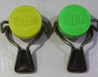 "Pair of vintage Bottle Stopper ""Propper"" made in Germany Breweriana"