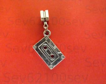 pretty pendant silver cassette 24 x 13 mm