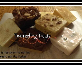 1/2 POUND (+) of FRESH HomeMade Creamy Fudge In Lots Of NEW Flavors ~ Over 35 to Choose From