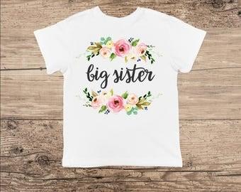 Big Sister T Shirt, Flower Bouquet Bodysuit