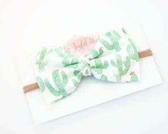 Cactus Accessories, Cactus Bow, Baby Accessories, Baby Girl Headband, Baby Hair Bows, Baby Bow Headband, Baby Bow Headbands,