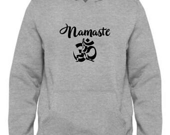 Yoga Hoodie GONE TO YOGA Hoodie Ohm Unisex Hoodie Meditation Women's Hoodie Namaste Yogi Men's Hoodie Funny Yoga Gift White Hoodie 0Iel9CszN