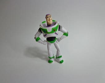 Disney Toy Story Mini Buzz Lightyear McDonalds Happy Meal Toy Novelty Cake Topper Decoration, Collectible Figure
