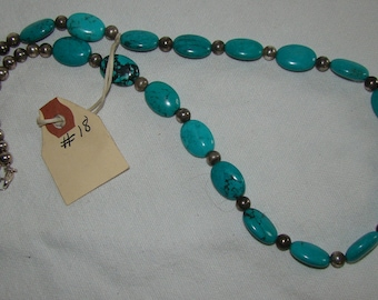 T-18 Native American Necklace Turquoise stones