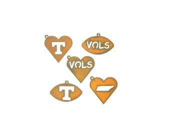 University Of Tennessee Volunteers Rusty Metal Pendant/Charm Assortment