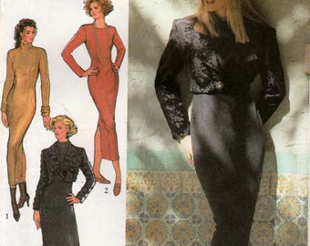 Misses Jacket, Fitted and Lined and Dress, Fitted with Long Sleeves, Style 2329 Sewing Pattern, Multi-Size 8, 10, 12, 14, 16, 18, Uncut