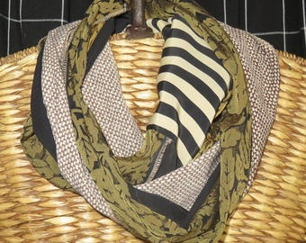 Scarf, Mobius, Blacks, Browns, Tans, Classy, Not green