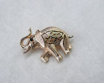 Vintage Gold Tone Sarah Coventry Elephant Pin | brooch