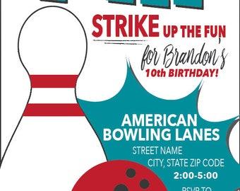 bowling einladung-bowling einladen-bowling party-bowl, Einladung
