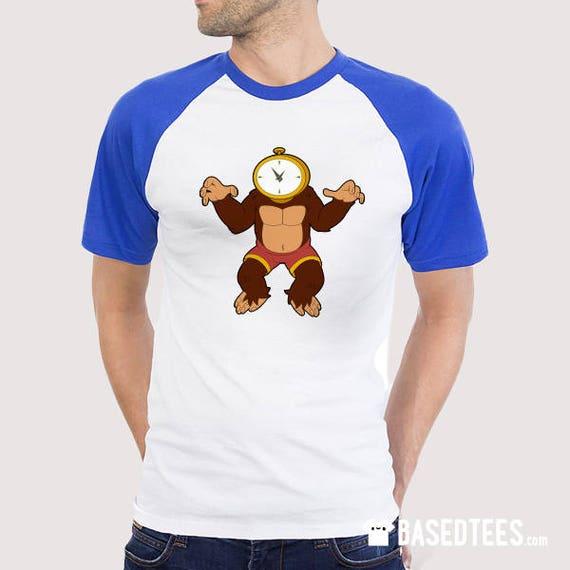 Sara Murphy / Doctor Zone and Time Ape Baseball T-shirt (royal blue & navy sleeves)