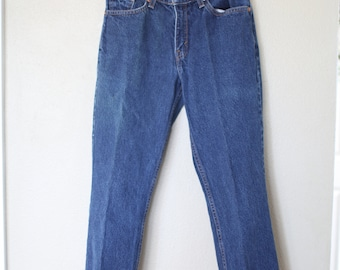vintage 1980's high rise waist  levis 517 mom  jeans denim 28
