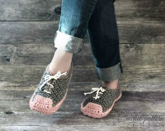 Crochet pattern- women sneakers,slippers,loafers,footwear,house,bulky yarn,quick diy