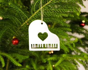 Love Piano Christmas Ornament Musician Music Teacher Pianist Personal Custom Gift for Her Him Orchestra Keyboard Holiday Stocking Stuffer