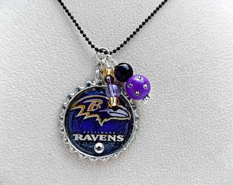 Baltimore Ravens Football Necklace, Baltimore Ravens Jewelry, Baltimore Ravens Football, Baltimore Ravens, Baltimore Ravens Accessories