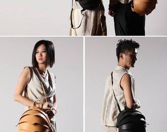 Crossbody leather bag, Beetle Backpack, Mens Crossbody Bag, Women Crossbody Bag, Beetle Bags, black leather backpack, Leather Brown Backpac