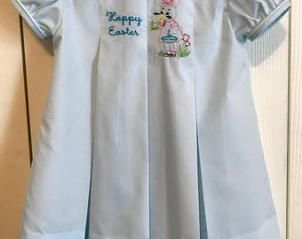 Easter Dress, Easter Bunny Dress, Classic Pleat Dress