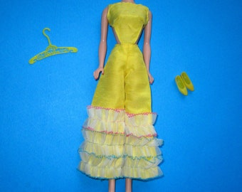 Vintage Mod Barbie 1687 CARIBBEAN CRUISE (1967) Complete Fashion Yellow Silk Halter Jumpsuit (PayPal only)