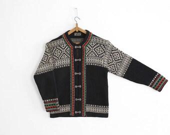 Vintage Norwegian Sweater/Cardigan - Nordic, scandinavian