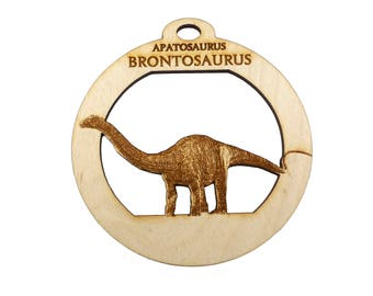 Brontosaurus Ornament - Dinosaur Ornament -  Brontosaurus Christmas Ornament - Personalized Free