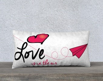 Pillow Case, Love is in the air 24x12