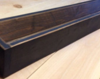 Black Table Centerpiece, Succulent Planter, Wedding Centerpiece, Long Rustic Flower box Centerpiece, Rustic Wedding Centerpiece